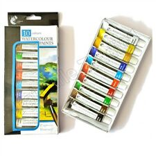 Water Colour Art Paint 10 Tubes Set - 12ml Assorted Colours Artist Craft Canvas