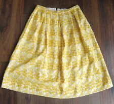 NEW Topshop Yellow Floral Embroiled A-Line Skirt Size 10
