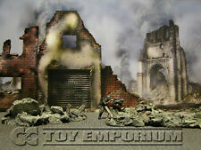 "BRAND NEW  Build-a-Rama 1:32 Deluxe WWII Color ""Fallen City"" Museum Back Drop"
