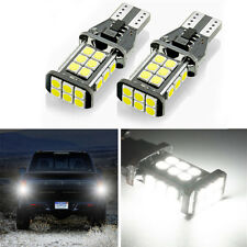 2pc T15  3030 SMD White CAN-bus Backup Reverse Lights 6000K 1600 lum Error Free
