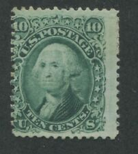 1861 US Stamp #68 10c Average Mint No Gum Perf 12 Catalogue Value $375