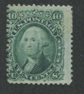 1861 US Tampon #68 10c Moyenne Excellent État N° Gomme Perf 12 Catalogue Valeur