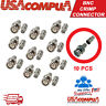 Crimp BNC Connectors Male RG59 Coax Coaxial  For CCTV Camera 10pcs