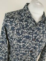 Mens Ted Baker Floral Ditsy Ameego Shirt Blue 4 Large 42 Chest Vgc