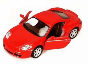 PORSCHE CAYMAN S RED 1/34 SCALE DIECAST CAR BY KINSMART 5307D