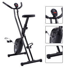 Goplus Folding X-Shape Exercise Bike Cardio Workout Cycling Fitness Stationary