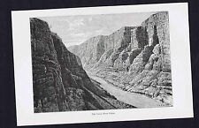 The Green River Canon - 1894 Historical Print
