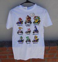 New w/ Tags Nintendo Mario Kart Mario White Tee T-Shirt Men's Size Small RARE