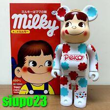 Medicom 400% Bearbrick ~ Fujiya Milky Peko Be@rbrick 2013 Candy White
