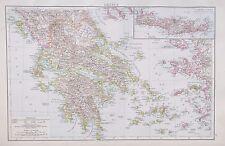 Map of Greece. 1895. Times Atlas. EUROPE. GREEK