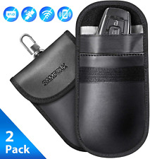 SAMFOLK Faraday Bag for Car Keys 2 Pack Car Key Signal Blocker Pouch Case, Anti