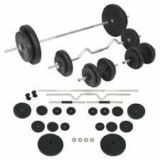 vidaXL Halterset 90 kg Barbell Dumbbell Fitness Set Training Halter Gewicht