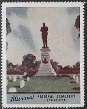 Usa Cinderella stamp: See Missouri: National Cemetery, Springfield - dw763a
