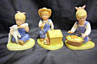Denim Days Figurines (Lot of 3) by Homco