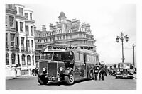 pt6594 - Southdown Bus no 522 at Eastbourne in 1949 - photograph 6x4