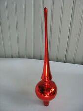 "Vintage Mercury Glass Tree Topper 11 3/4"" Red Christmas Holiday original box"