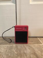Vintage Flavoradio AM-FM Radio Shack REALISTIC 12-720 Pink Transistor Radio WORK