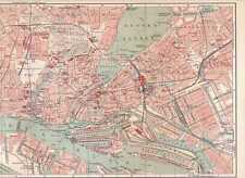 HAMBURG Altona Stadtplan + Strassenregister um 1905 Binnenalster Hafen St. Pauli