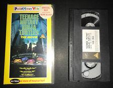 Teenage Mutant Ninja Turtles The Movie 1990 Pal VHS Hero Vintage Retro