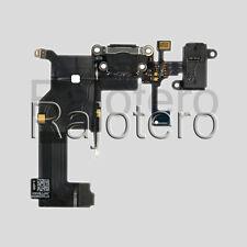 Flex Dock Conector de Datos Carga Microfono Auricular Jack Negro para IPhone 5