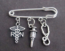 Registered Nurse Safety Pin Brooch,Nurse gift Jewelry,Nurse Graduation jewelry