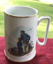 """Norman Rockwell Seafarers Tankard """"looking Out To Sea� 1984 Mug"""