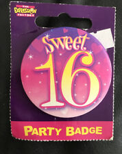 16th birthday badge New In Packaging. Sweet 16.
