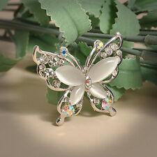 Fashion Women Jewelry Rhinestone Crystal Wedding Brooch Pin Flower Bouquet Gifts