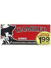 Gambler Regular King Size Pre-Priced RYO Cigarette Tubes 200ct Box (5 Boxes)