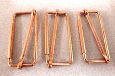 3 x 51mm copper finish metal slide grip bar buckle , corset bag strap craft }