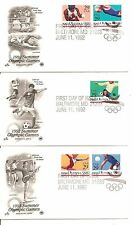 US SC# 2637-2641 Summer Olympic Games FDC. Postal Commemorative Society