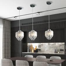 3pcs Crystal Pendant Light Kitchen Island Fixture Modern Chandelier Hanging Lamp