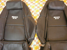 Custom made 1990-1999 300ZX Genuine Leather Seat Covers Black With White Logo