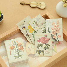 52Pcs DIY Flower Sticker Vintage Sticky Paper Crafts for Scrapbooking Decoration