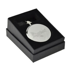 Engraved Spitfire Design Silver Pocket Watch Boxed XCPW2-SF