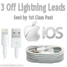 3x/Lot USB Mains Charging Cable Lead For iPhone 6 Plus 5 5S iPad Mini iPod Touch