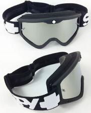 Occhiali da moto con montatura in nero adulti con lenti in argento