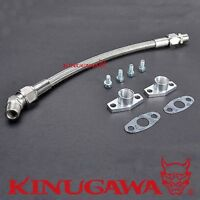 Kinugawa Turbo Oil Return Line Borgwarner K03 K04 K06 50cm 8AN / Spacing 38mm