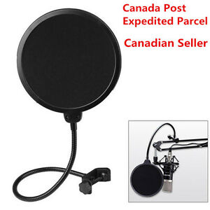 Double Layer Flexible Studio Microphone Mic Wind Screen Pop Filter Mask Shied