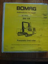 BOMAG Pneumatic Tired Roller BW 11R Repair Shop Manual BW11R 04/1995
