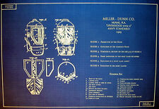 Vintage Diving Helmet 1923 Patent Drawings Blueprint display 23x28 (181)