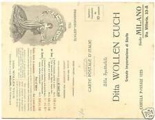MILANO - PUBBLICITARIA DOPPIA - WOLLEN TUCH STOFFE 1906