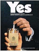 PUBLICITE  1969   BENSON & HEDGES   YES  cigarettes paquet or