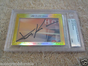 Tony Kanaan 2014 Leaf Masterpiece Cut Signature signed autographed card 1/1 JSA