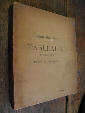 Faillite Humbert  Catalogue tableaux modernes Pastels et aquarelles 1902