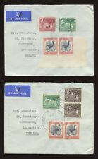 NEW ZEALAND SHIPPING CO 1957 MULTI FRANKINGS + CORNER BLOCKS FLAG FLAP..5 COVERS