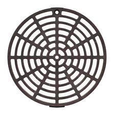 Floor Drain Cover  6-1/8 in. Gray PVC Round Drain Grate