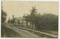 RPPC Church Street View N NORTH LAWRENCE OH Stark County Real Photo Postcard