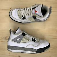 Air Jordan IV 4 Retro BP PS White Cement 2016 Grey 308499-104 Youth Size 13C
