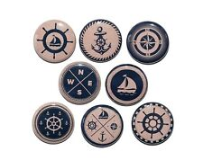NAUTICAL VINTAGE LOOK - Buttons Pinbacks Badges 1 inch - Set of 8